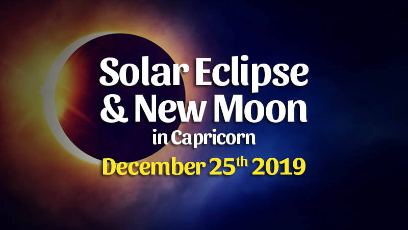 Solar Eclipse & New Moon in Capricorn on December 25