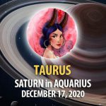 Taurus - Saturn in Aquarius Horoscope